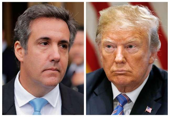 Advogado Michal Cohen e presidente dos EUA, Donald Trump, em fotos combinadas 18/07/2018  REUTERS/Lucas Jackson, Leah Millis