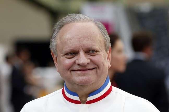 Chef francês Joël Robuchon durante evento em Paris