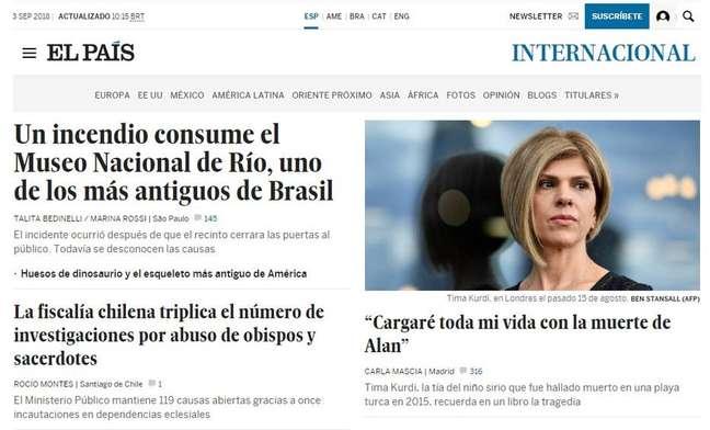 Jornal espanhol destaca falta de verbas para a manutenção do Museu Nacional