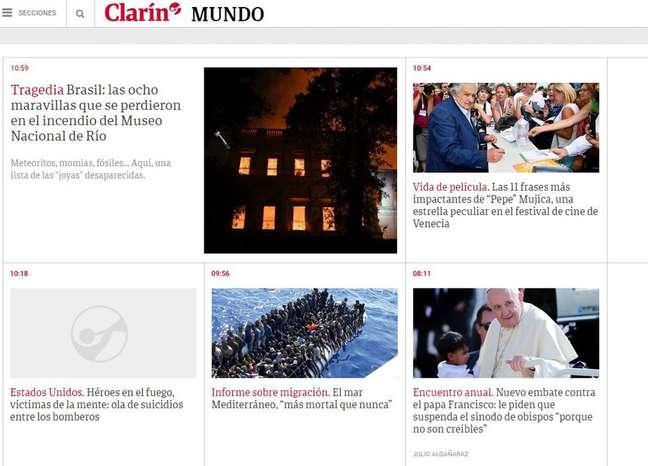 Jornal argentino lista objetos que foram destruídos no incêndio do Museu Nacional