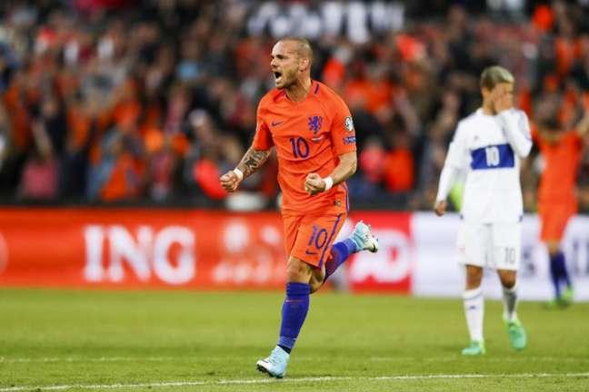 Sneijder fará seu último jogo pela Holanda nesta quinta-feira (Foto: AFP)