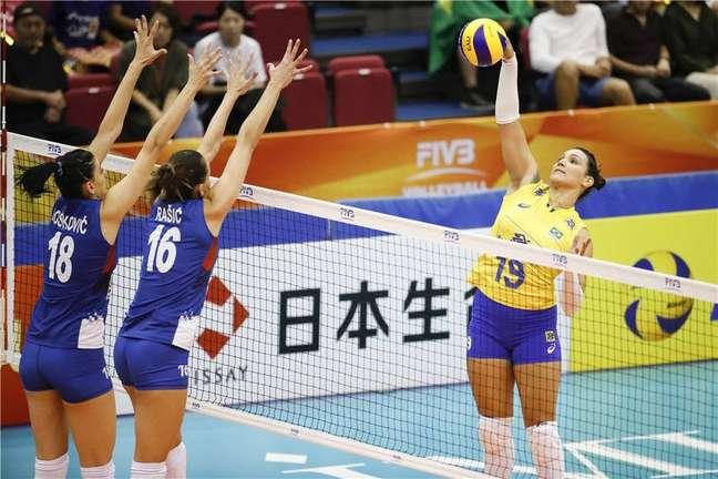 Jogo daseleção feminina de vôlei do Brasil com a Sérvia pelo Mundial de 2018