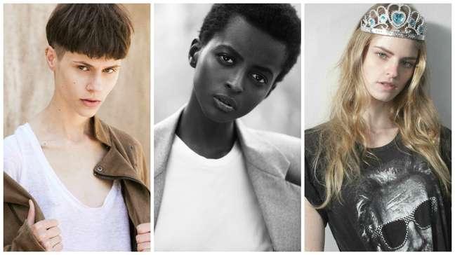 Michi, Amira e Bruna (Fotos: Gabriel Henrique, Pupin e Deleu e Whenry Matias/Divulgação/Way Models)