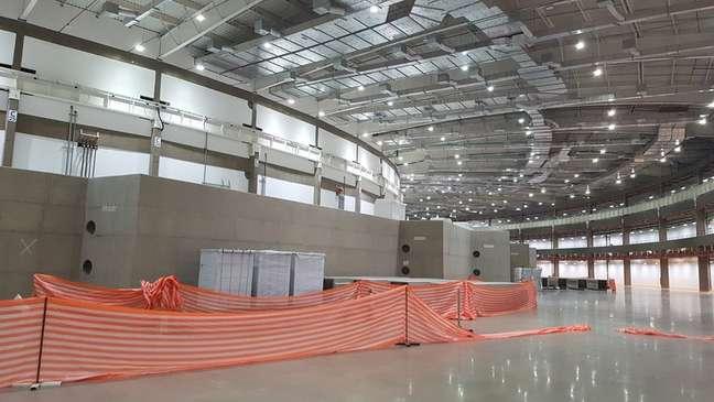 Área do Sirius onde as linhas de luz síncrotron sairão e serão construídas as estações de pesquisa