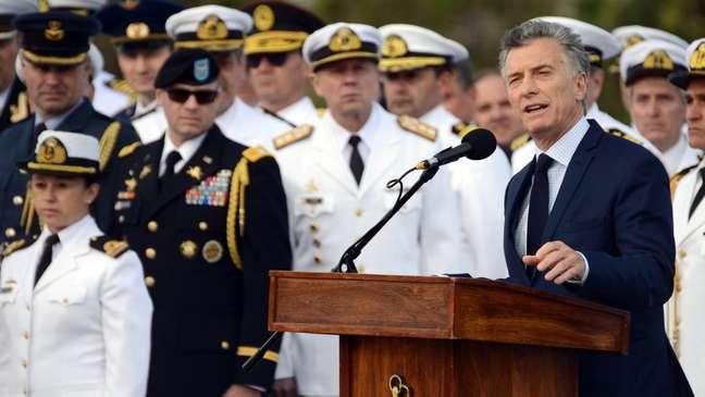 Na última quinta-feira, quando se completava um ano do desaparecimento do submarino, o presidente argentino Mauricio Macri prestou homenagem à tripulação