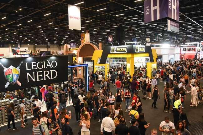 Vista da Comic Con Experience, maior festival de cultura pop e geek do mundo, na São Paulo Expo, na capital paulista, nesta quarta-feira, 5
