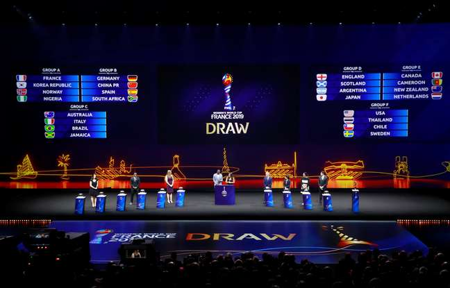 Sorteio da Copa do Mundo Feminina da FIFA de 2019, em Paris, na França (08/12/2018)
