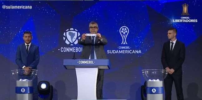 Sorteio foi realizado no Paraguai (Foto: Reprodução)