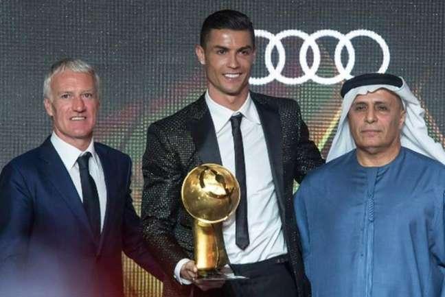 Deschamps e Cristiano Ronaldo ganharam prêmios (Foto: Divulgação / Globe Soccer Awards)