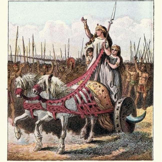 Vestida para impressionar - Boudicca sempre foi retratada como uma guerreira destemida