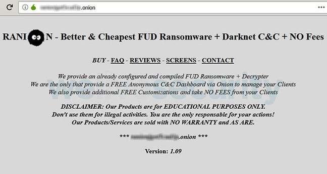 """Ranion é um """"produtor"""" de ransomware"""