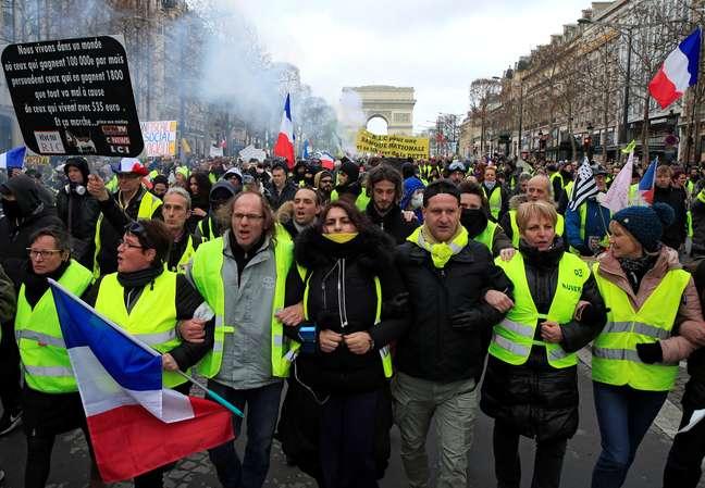 Protesto dos coletes amarelos em Paris