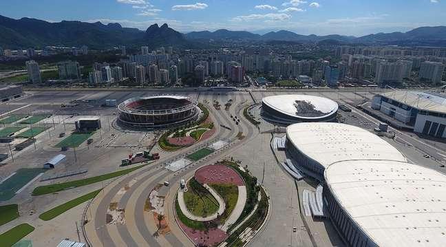 Vista aérea do Parque Olímpico do Rio de Janeiro
