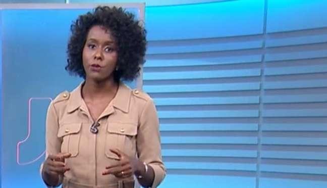 Maju Coutinho no 'Jornal Nacional'.