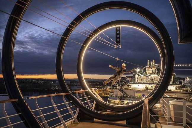 MSC Seaview é um dosmaiores navios de cruzeiro a operar na costa brasileira