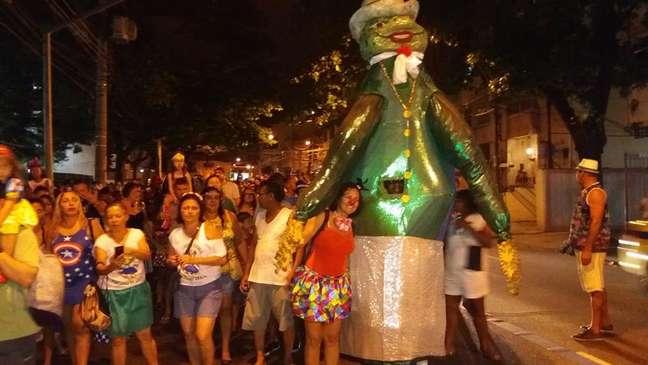 Bloco Perereca do Grajaú em desfile no Rio