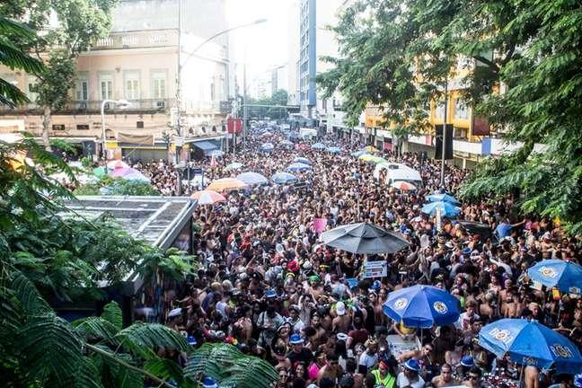 Desfile do Bloco Balança Meu Catete, na Zona Sul do Rio