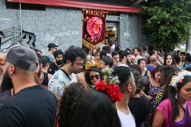 """Bloco """"Pirikita em Chamas"""" no Carnaval de São Paulo"""