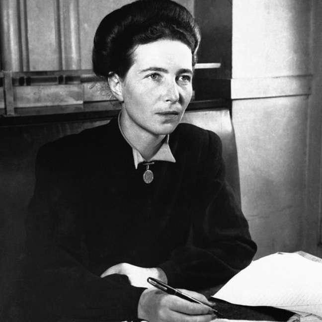 Simone de Beauvoir (1908-1986) é até hoje um ícone do feminismo