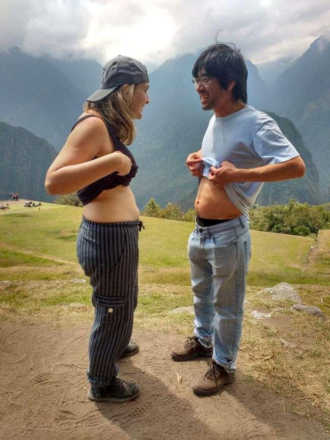 Mochilão grávida