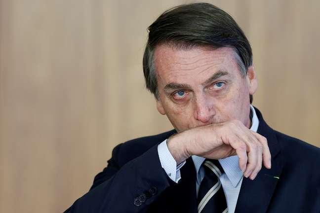 Presidente Jair Bolsonaro no Palácio do Planalto, Brasília 08/03/2019 REUTERS/Adriano Machado
