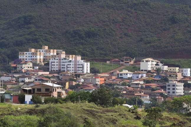 Vista geral do entorno da barragem Sul Superior, da mina do Gongo Soco, em Barão de Cocais, cidade da região Central de Minas