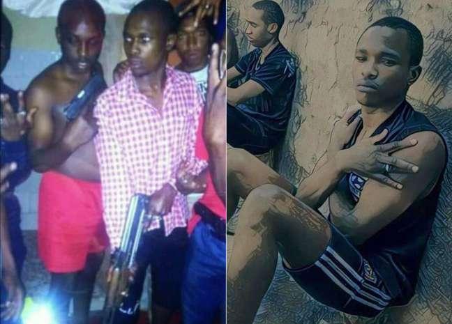 Mwani Sparta, conhecido por postar imagens de sua vida de luxos, publicou uma foto sua em 2017 com uma grande arma na mão, ao lado de amigos