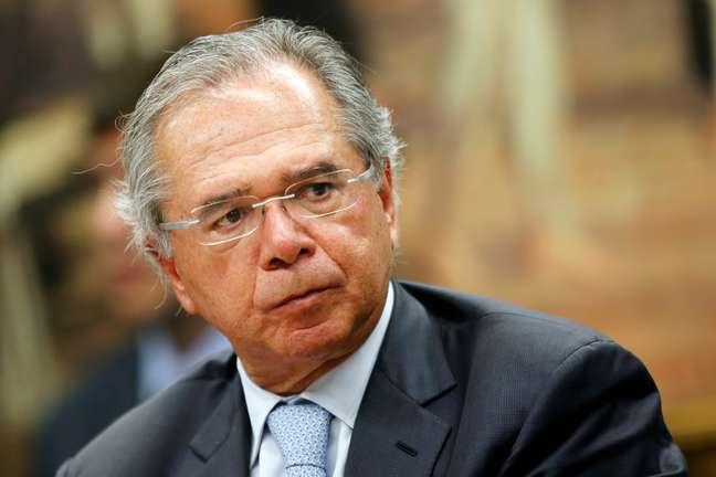 Ministro da Economia, Paulo Guedes, durante audiência na comissão especial da reforma da Previdência 08/05/2019 REUTERS/Adriano Machado