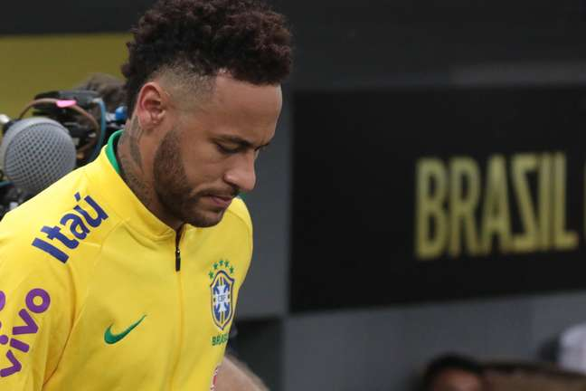 O atacante Neymar, da Seleção Brasileira