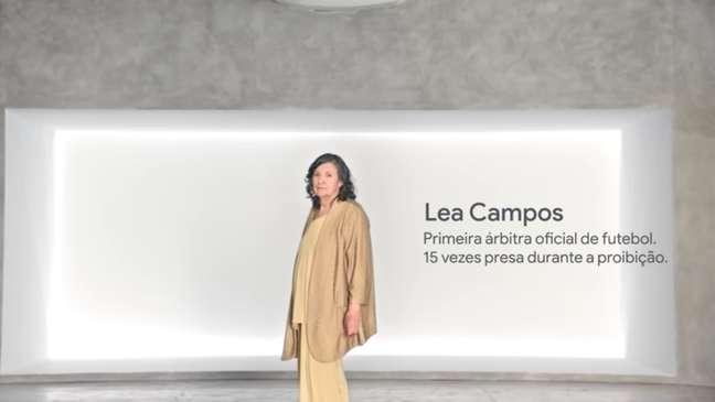 A ex-árbitra de futebol Léa Campos figurou no vídeo de divulgação do Museu do Impedimento
