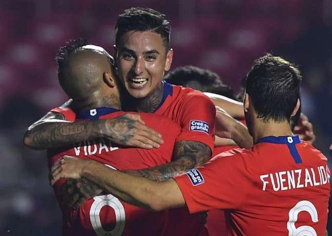 Chile estreou na Copa América com goleada sobre o Japão (Foto: Nelson Almeida / AFP)