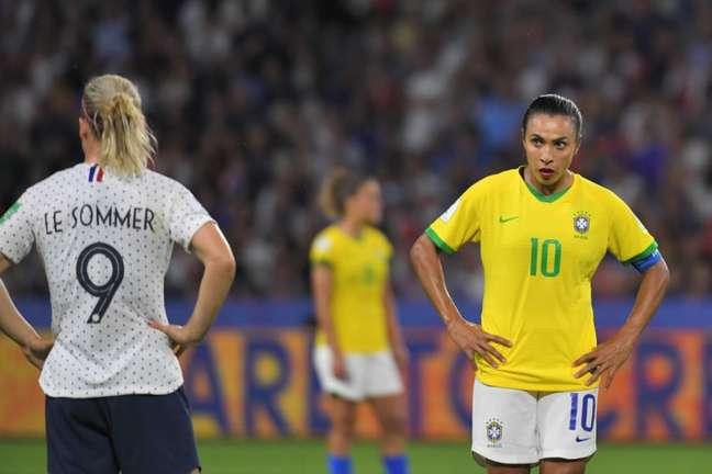 Marte deu relato emocionado após eliminação do Brasil da Copa do Mundo (Foto: LOIC VENANCE / AFP)