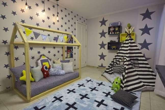 32. As duas camas montessorianas do projeto de Andrea Bento
