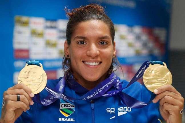 Ana Marcela venceu a prova dos 25km e quebrou vários recordes no Mundial (Foto:Satiro Sodré)