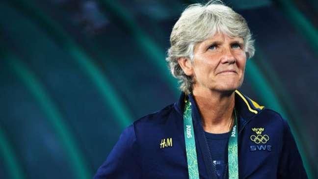 CBF oficializou a contratação da sueca após a demissão de Vadão (Foto: Stuart Franklin/FIFA)