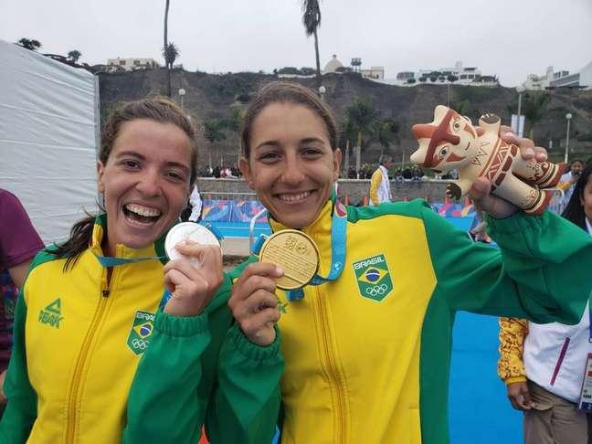 Na prova feminina do triatlo, Luisa Baptista e Vittoria Lopes conquistaram, respectivamente, as medalhas de ouro e pratanos Jogos Pan-americanos Lima 2019.