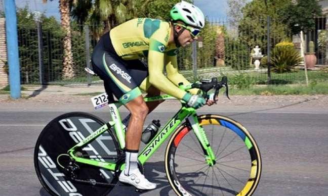Magno Nazaret é prata no ciclismo contrarrelógio em Lima (Foto: Divulgação)