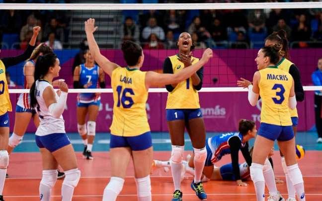 A Seleção feminina de vôlei não encontrou dificuldades para vencer Porto Rico (Foto: Divulgação/CBV)