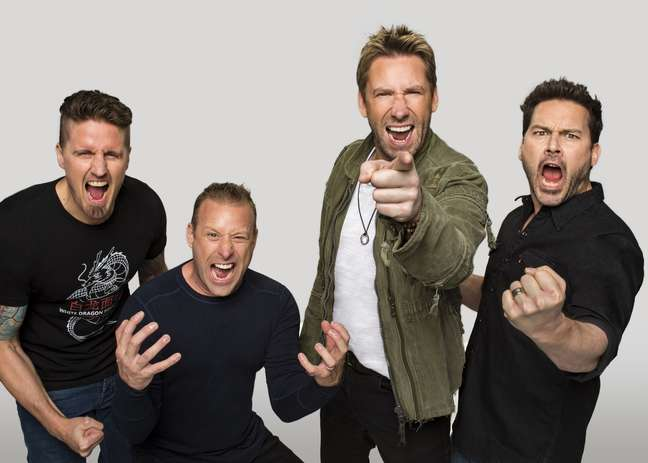 Banda Nickelback se prepara para shows no Brasil.
