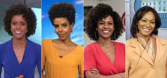 Maju Coutinho, Cynthia Martins, Luciana Barreto e Luciana Camargo usam a visibilidade na mídia para conscientizar a população contra o racismo