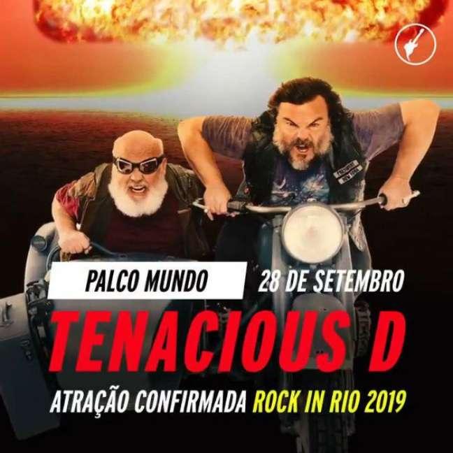 Tenacius D chega ao Rock in Rio com alguns anos de atraso (Imagem/Divulgação)