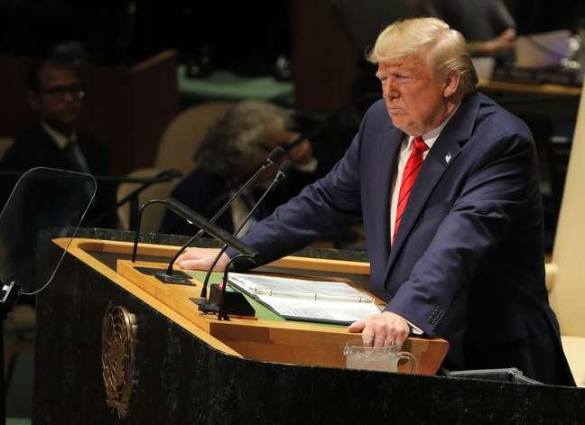 Trump fala na ONU 24/9/2019 REUTERS/Brendan Mcdermid