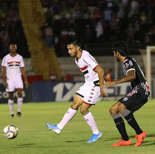 Botafogo e Operário empataram em 1 a 1 (Foto: Reprodção/Instagram)