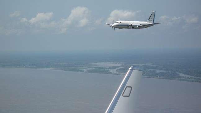 Os aviões alemães G1 e G5 usados pelos cientistas do GoAmazon para estudar a atmosfera amazônica