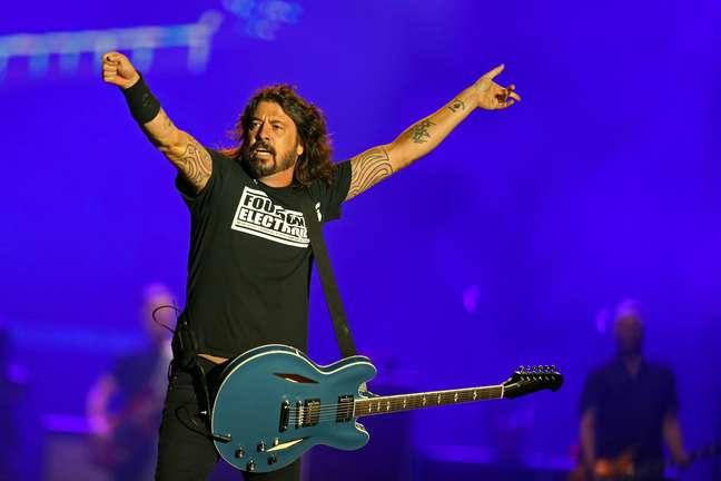Dave Grohl comandou a plateia no último show da segunda noite de Rock in Rio