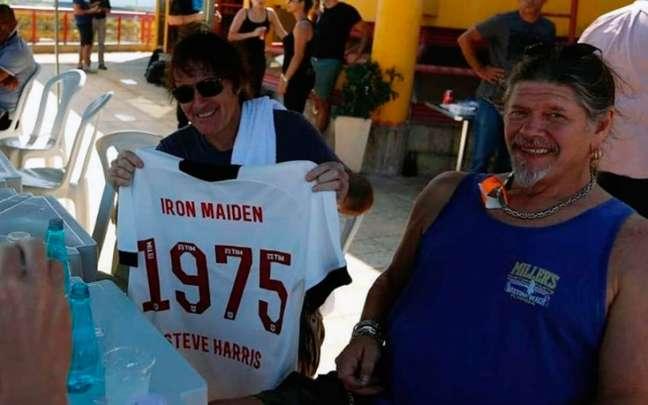 Steve Harris, do Iron Maiden, estará no Palco Mundo do Rock in Rio por volta de 21h (Foto: Rafael Ribeiro / Vasco)