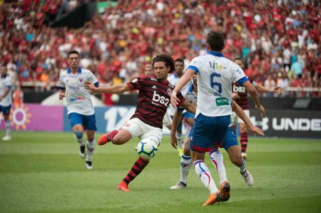 No primeiro turno, o Flamengo venceu o Fortaleza por 2 a 0 no Maracanã (Foto: Alexandre Vidal/Flamengo)