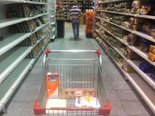 Produtos que podem ser comprados com um salário mínimo venezuelano no mercado