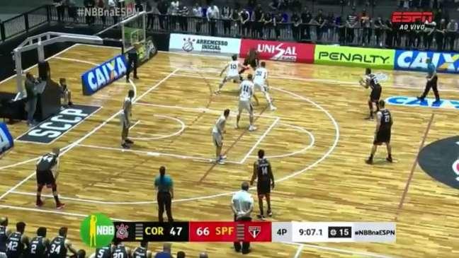São Paulo vence o Corinthians no primeiro Majestoso do NBB - (Reprodução/ESPN)