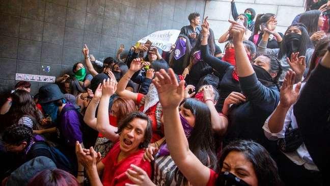 Os estudante têm liderado as manifestações no Chile